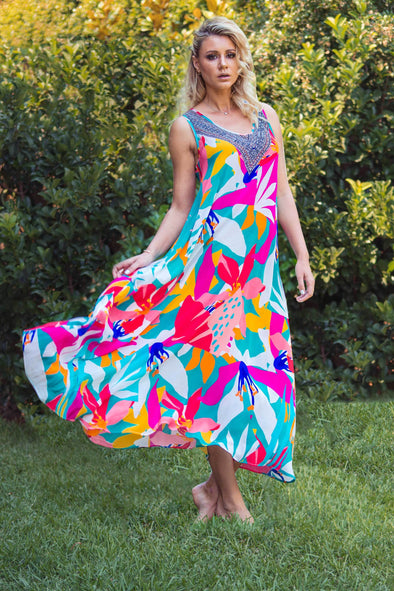 KALEIDOSCOPE - SLEEVELESS MAXI DRESS