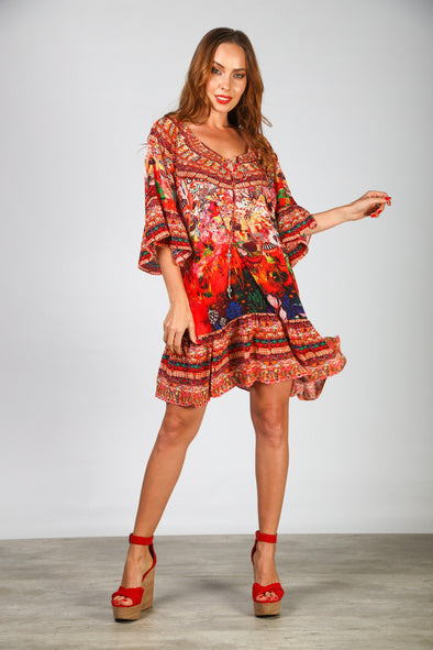 CORRALLE - GYPSY DRESS