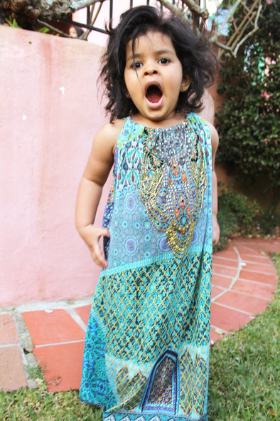MARRAKESH COLLECTION - LITTLE GIRLS MAXI DRESS