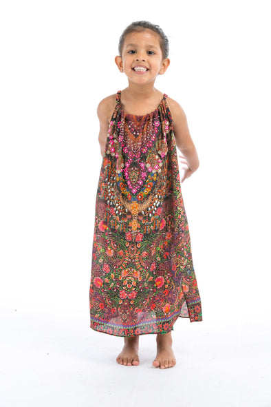 ROSARIO COLLECTION - LITTLE GIRLS MAXI DRESS