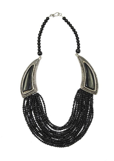 JEWELLERY - BLACK STONE NECKLACE