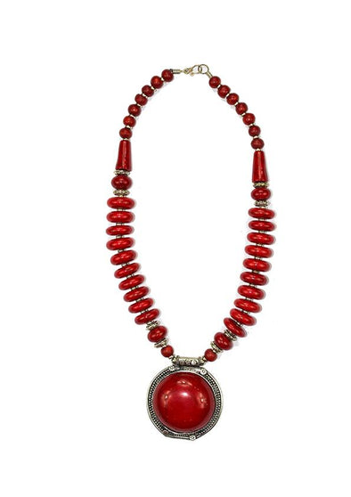 JEWELLERY - RED ROSA NECKLACE