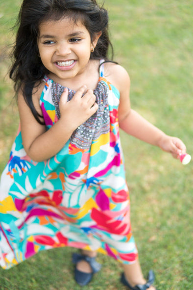 KALEIDOSCOPE - LITTLE GIRLS MAXI DRESS