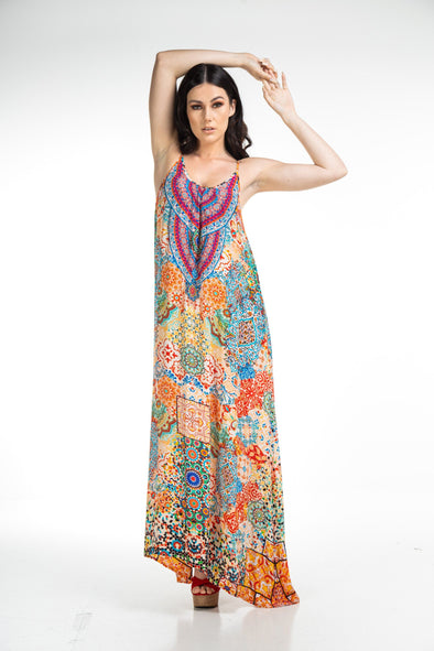 SUMMER TANGERINE - MAXI WITH ADJUSTABLE STRAPS