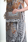 HANDBAGS - ZAFFARI CLUTCH WITH CRYSTALS