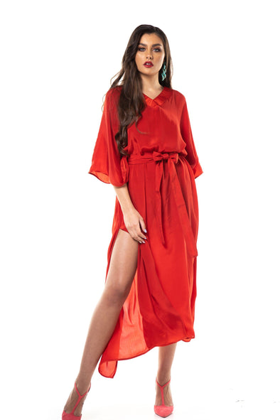 MONO RED - LONG KAFTAN