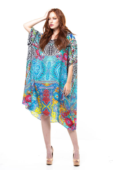 CHARAYA - SHORT BOX KAFTAN