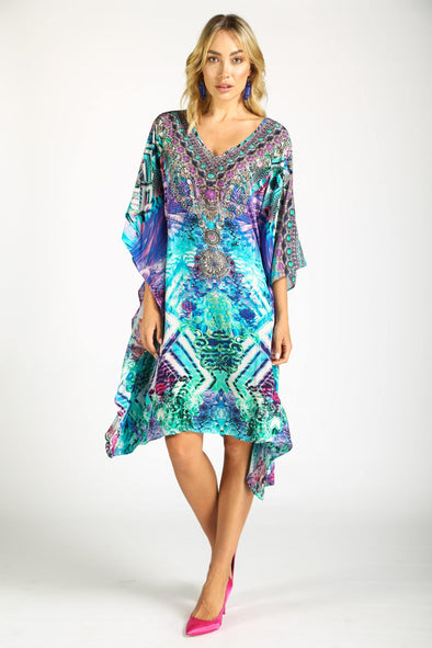 INDIGO SUMMER - SHORT KAFTAN