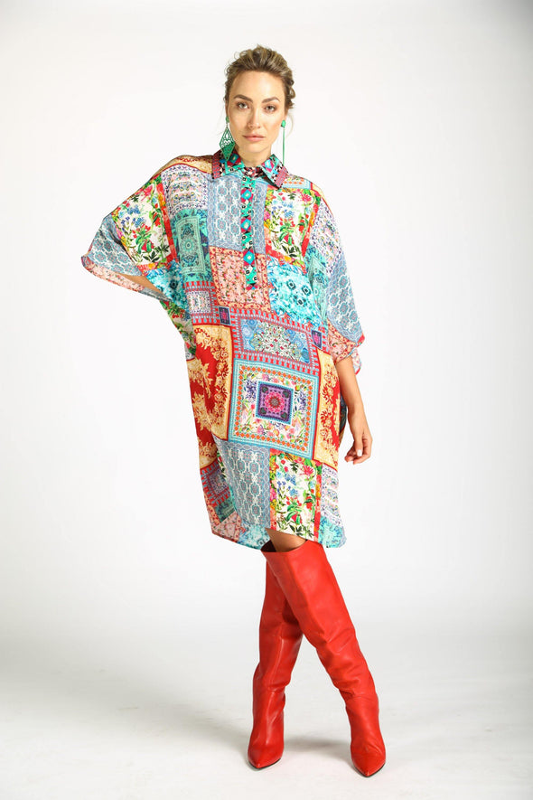 DAMASCUS - FLOWING SHIRT DRESS