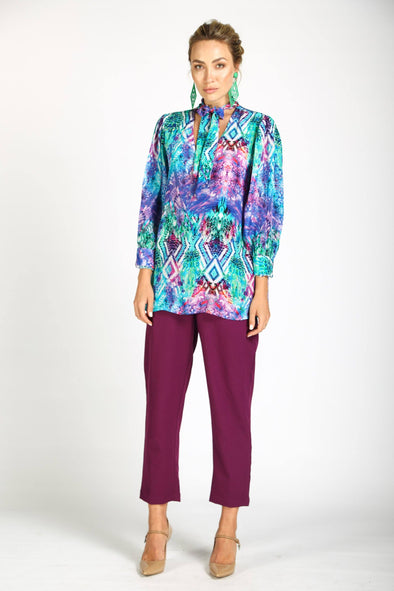INDIGO SUMMER - BOHEME SHIRT WITH NECK TIE