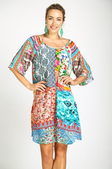 DAMASCUS - SLIT SLEEVE DRESS