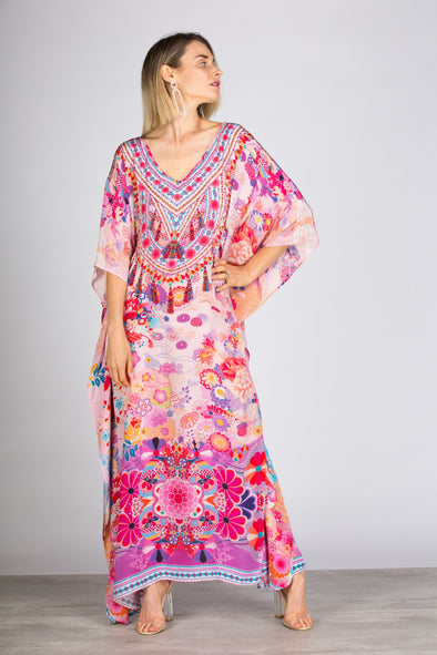 CHERRY BLOSSOM - LONG KAFTAN