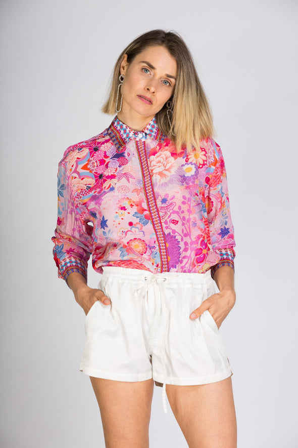 CHERRY BLOSSOM - SHIRT WITH COLLAR