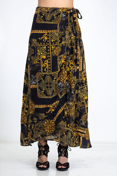 VERONA - WRAP AROUND LONG SKIRT