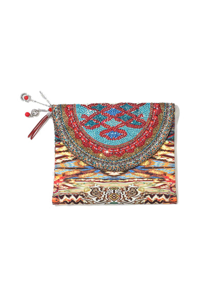 HANDBAGS - ARIZONA CLUTCH WITH CRYSTALS