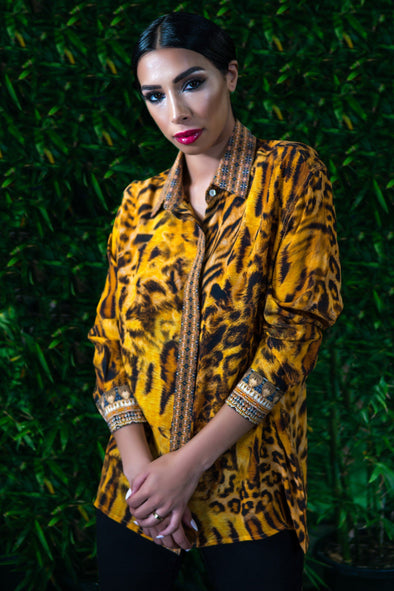 TIGRESS COLLECTION - SHIRT WITH COLLAR