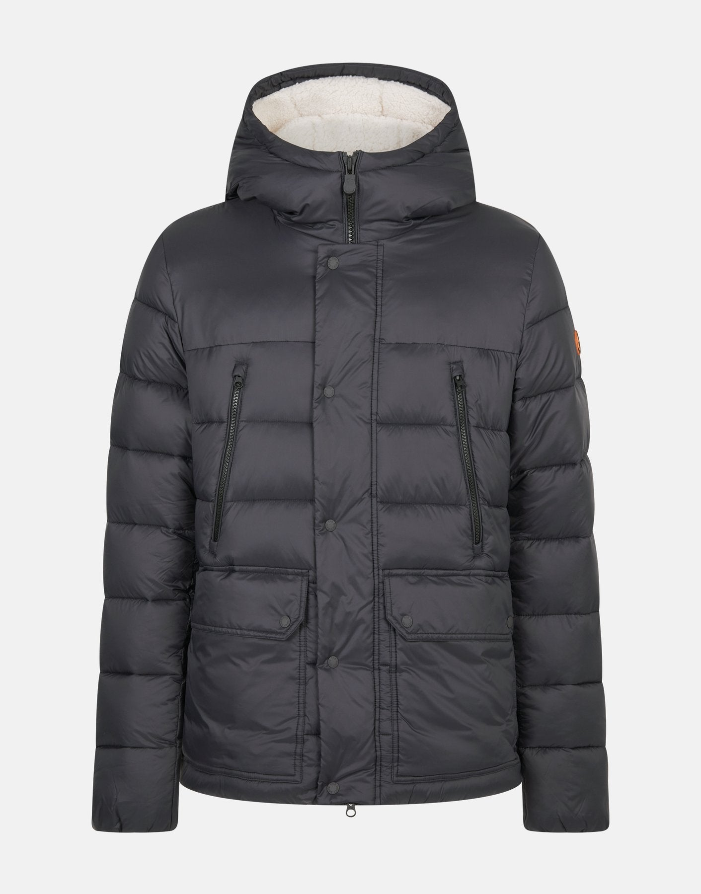 See this material featured on the Men's GIGA Winter Hooded Puffer Jacket with Faux Sherpa Lining