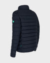 Mens RECY Quilted Jacket in Blue Black