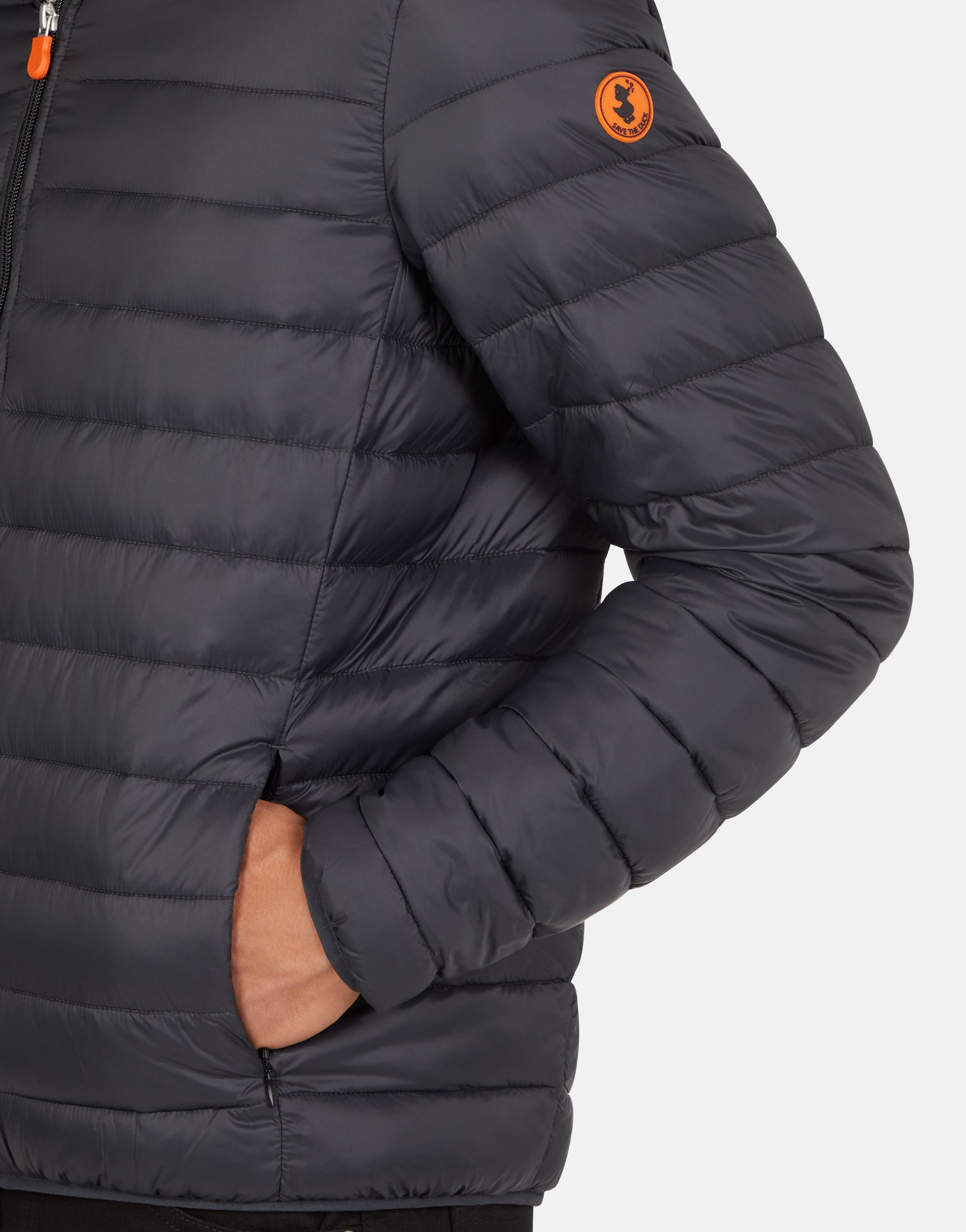 online store 95380 ba5fd Save The Duck Men's GIGA Winter Hooded Puffer Jacket with Faux Sherpa Lining
