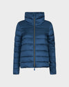 Womens IRIS Raised Collar Jacket in Space Blue
