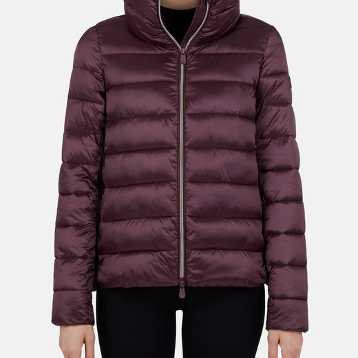 Womens Jacket in IRIS with Standing Collar
