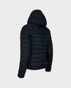 Women's GIGA Faux Sheepskin Hooded Jacket in Black