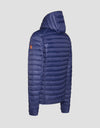 Men's GIGA Hooded Puffer Jacket in Opal Grey
