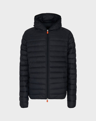 Mens GIGA Hooded Jacket in Black