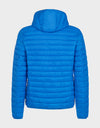 Mens GIGA Puffer Hooded Jacket in Marina Blue