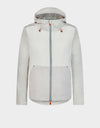 Womens FEBA Hooded Jacket in Coconut White