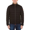 Mens Stretch Puffer Jacket in Black