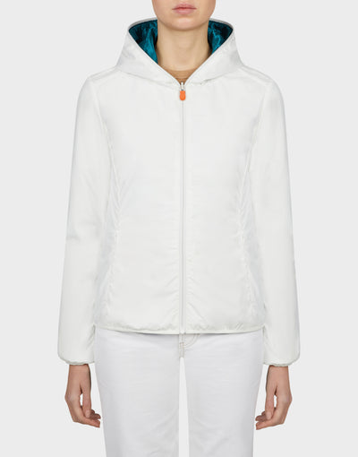 Womens MATY Reversible Jacket in Coconut White