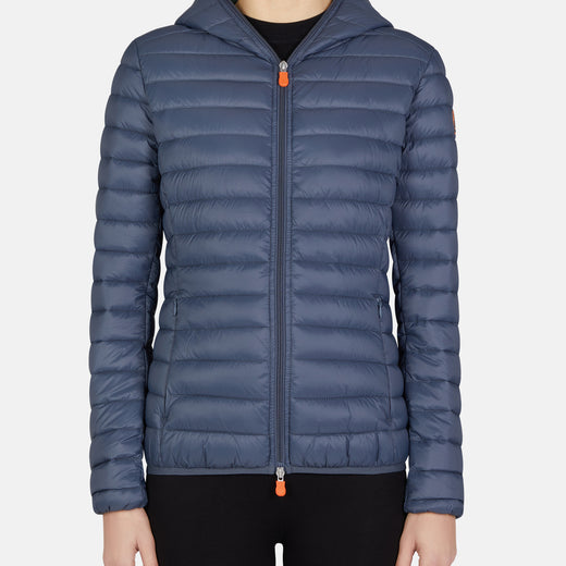 DAISY: Womens Hooded Jacket in GIGA in Ombre Blue