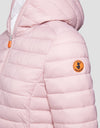Womens GIGA Hooded Puffer Jacket in Blush Pink