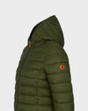 Womens GIGA Quilted Jacket in Dusty Olive