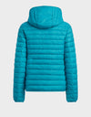Womens GIGA Hooded Jacket in Waterfall Green