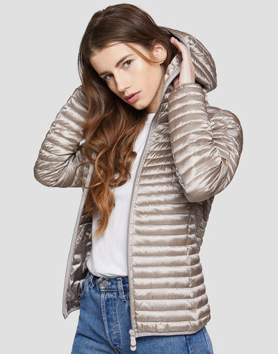 Women's IRIS Hooded Puffer Jacket in White
