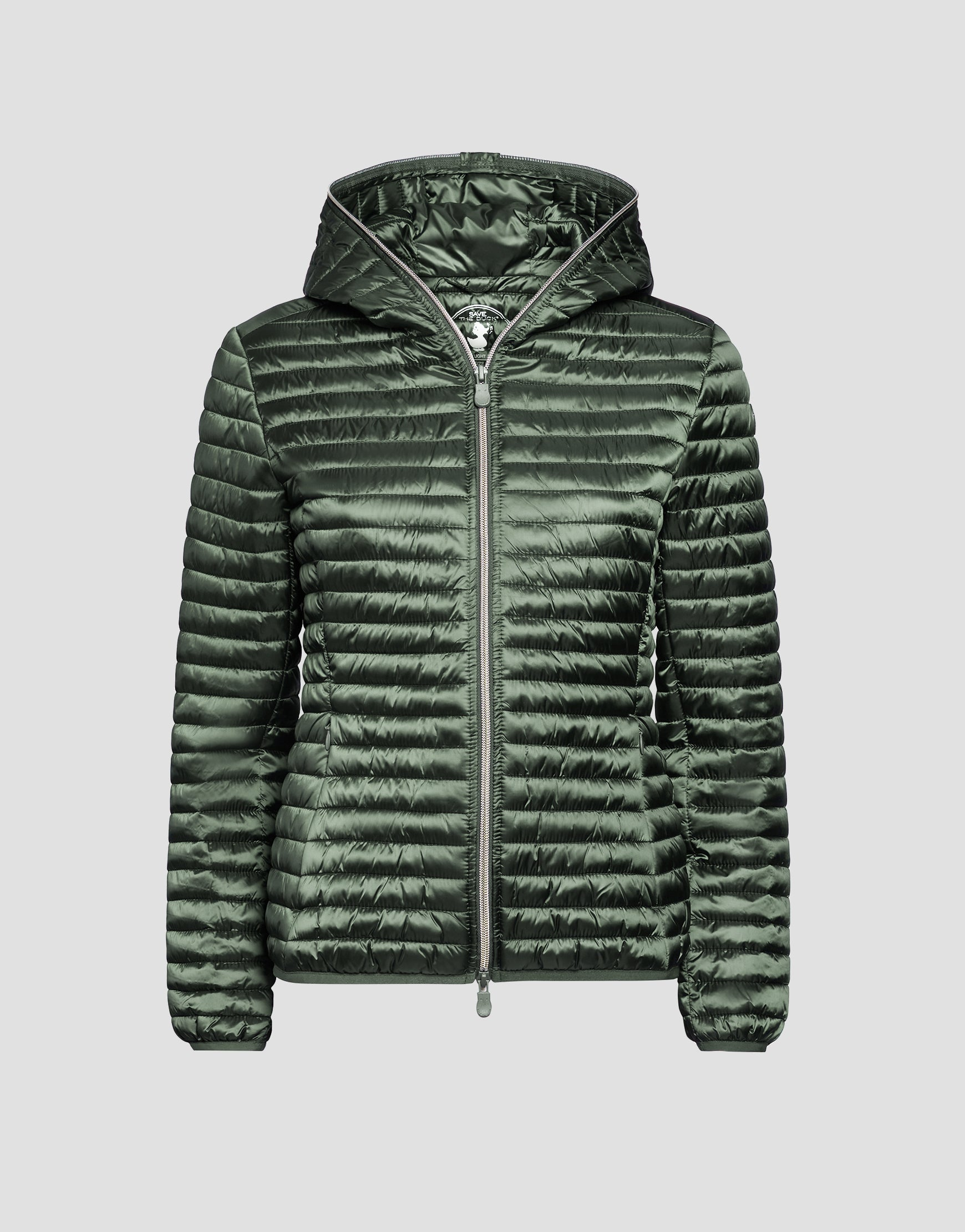 960ba40dd Womens IRIS Hooded Puffer Jacket in Cactus Green