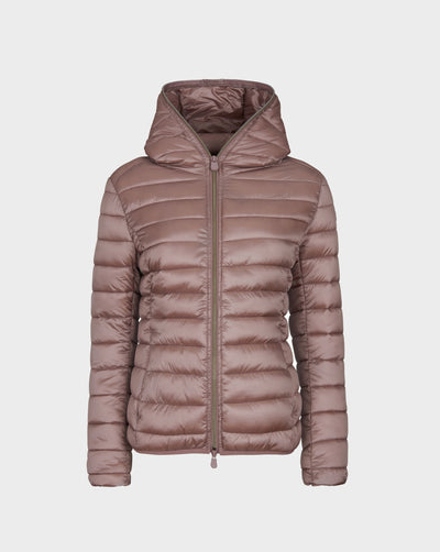 Womens IRIS Hooded Jacket in Misty Rose