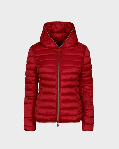 Womens IRIS Hooded Jacket in Tango Red