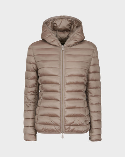 Womens IRIS Hooded Jacket in Pearl Grey