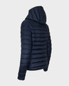 Womens IRIS Hooded Jacket in Blue Black
