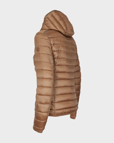 Womens IRIS Hooded Jacket in Macaroon Beige