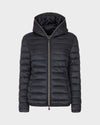 Womens IRIS Hooded Jacket in Grey Black