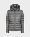 Womens IRIS Hooded Jacket in Shark Grey