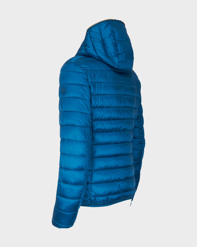 Womens IRIS Hooded Jacket in Atlantic Blue