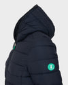 Womens RECY Hooded Jacket in Blue Black