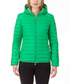 Women Hooded Jacket in Bright Green
