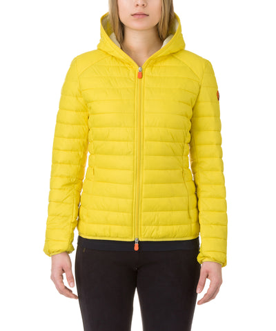 Women Hooded Jacket in Sunshine Yellow