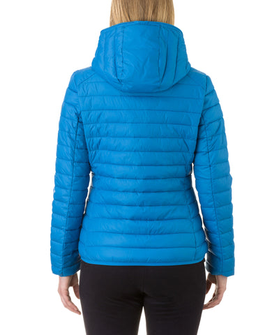 Women Hooded Jacket in Ocean Blue
